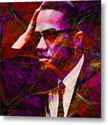 Malcolm X 20140105m28 Metal Print by Wingsdomain Art and Photography