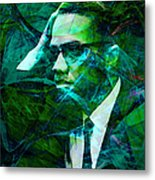 Malcolm X 20140105p138 Metal Print by Wingsdomain Art and Photography