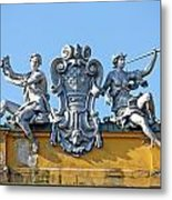 Male And Female Statue Metal Print by Borislav Marinic