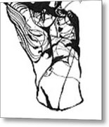 Male Figure Abstraction Metal Print