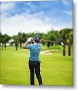 Male Golf Player  Metal Print