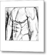 Male Torso #1 Metal Print