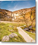 Malham Cove In Malhamdale Metal Print