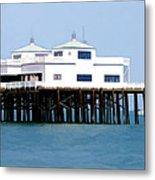 Malibu Pier On A California Blue Sky Day Metal Print