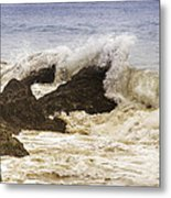 Malibu Waves Metal Print