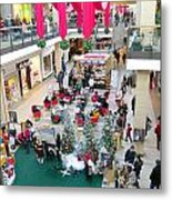 Mall Before Christmas Metal Print
