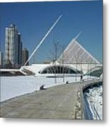 Mam In Winter With Jogger Metal Print
