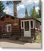 Mamma Cabin At The Holzwarth Historic Site Metal Print