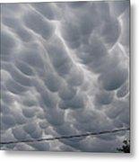 Mammatus Clouds Over Yorkton Metal Print