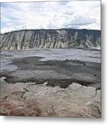 Mammoth Hot Spring Landscape Metal Print