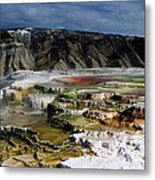 Mammoth Hot Springs Metal Print