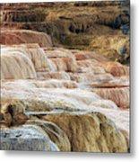 Mammoth Hot Springs Terracaes Metal Print