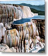 Mammoth Hot Springs Yellowstone Np Metal Print