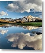Mammoth Peak Reflection Metal Print