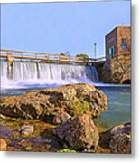 Mammoth Spring Dam And Hydroelectric Plant - Arkansas Metal Print