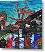 Man And Machines Metal Print by R Kyllo