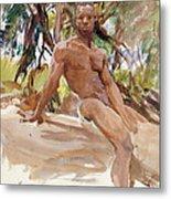 Man And Trees. Florida Metal Print
