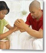 Man And Wife Pray Metal Print