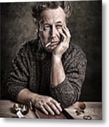Man At The Table - Lonely Hearts Club Metal Print