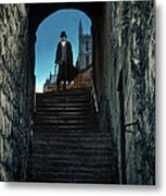Man At The Top Of The Steps Metal Print