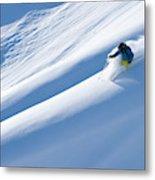 Man Big Mountain Skiing In The Chilkat Metal Print