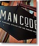 Man Code Metal Print