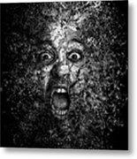 Man Eyes Face Horror Portrait Black And White  Metal Print