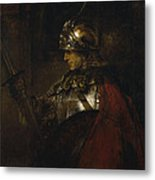 Man In Armor Metal Print