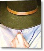 Man In Hat Metal Print