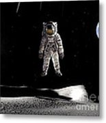 Man In Space Metal Print