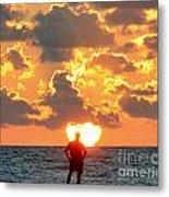 Man In Sunrise Metal Print