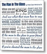 The Man In The Glass Poem Metal Print
