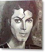 Man In The Mirror Metal Print by Belinda Low
