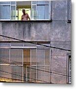 Man In The Window Metal Print