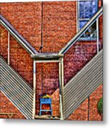 Man In The Window Metal Print
