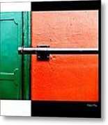 Man Made Abstract 3 Metal Print by Xoanxo Cespon