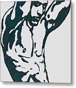 Man Nude Pop Stylised Etching Art Poster  Metal Print