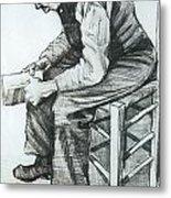 Man Reading The Bible Metal Print by Vincent van Gogh