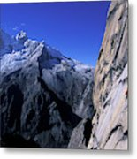 Man Rock Climbing Metal Print