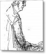 Man Standing Metal Print