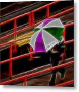 Man Under Umbrella Metal Print