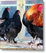 A Very Proud Man With His Two Humble Wives Metal Print by Hilde Widerberg