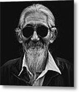 Man With White Beard Metal Print