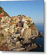 Manarola At Dusk Metal Print