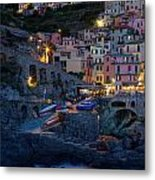 Manarola By Night Metal Print