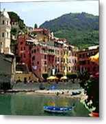 Waterfront - Vernazza - Cinque Terre - Abstract Metal Print