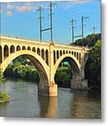 Manayunk Stone Arch Bridge Metal Print