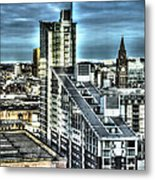 Manchester Buildings Hdr Metal Print