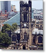 Manchester Cathedral Metal Print by Anthony Bean