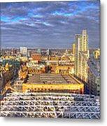 Manchester Skyline Panoramic Hdr Metal Print